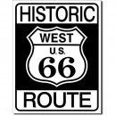 Blechschild Historic Route 66 West