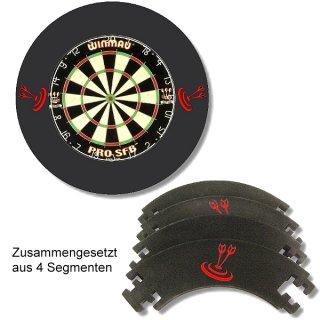 Winmau Dart-Auffangring Catchring Ring schwarz