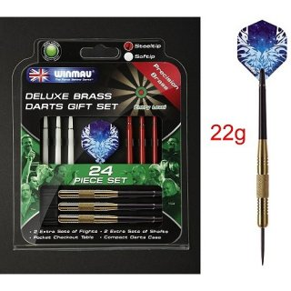 Dart arrow Set Deluxe Set 22g 24 pcs Steeldarts