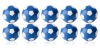 Kickerball Winspeed by Robertson 35 mm, blue / white, set...