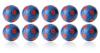 Kickerball Winspeed by Robertson 35 mm, blue / red, set...