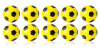 Kickerball Winspeed by Robertson 35 mm, yellow / black,...
