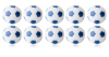 Kickerball Winspeed by Robertson 35 mm, white / blue, set...