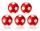 Kickerball Winspeed by Robertson 35 mm, rot / weiß, Set mit 5 St.