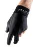 Billardhandschuh Felice Fingerless schwarz