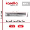 Softdart Barrel Karella Profi Line 80% Tungsten PLS-01, 20 g