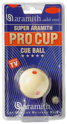 Spielball Pool weiß 57,2 mm Aramith Pro Cup TV-Sup