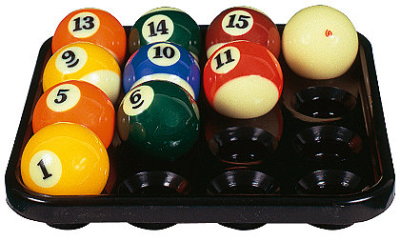 Ball tray for 16 balls Pool