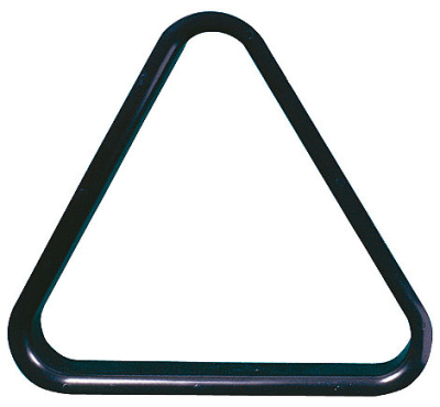 Triangle of balls pool PVC 57,2 mm black