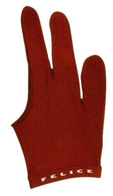 Billiard gloves Felice dark red