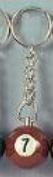 Billard Schlüsselanhänger Nr. 7, 25 mm Durchmesser