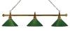 Billiard Lamp London 3 x Brass / Green