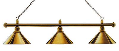 Billiard Lamp London 3 x Brass / Brass