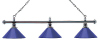 Billardlampe London 3fach Chrom/Blau