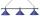 Billiard Lamp London 3 x chrome / blue