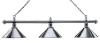 Billardlampe London 3-fach Chrom / Chrom
