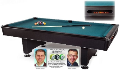 Pool Billiardtable Black Pool 8 ft.