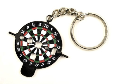 """Dart Key """"Dartboard"""" as a Key Ring. With various tool functions."""