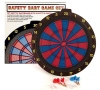 Dartboard Soft 2 Hole red / blue with six Darts Arrows
