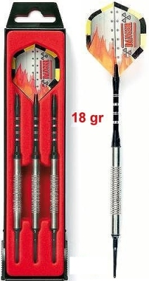 Dart Arrow Set Karella KT-6 18 g, Softdarts