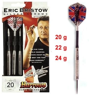 Darts Arrow Set Harrows Silver-Arrow Steeldart 20-24 g