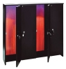 Billiard cue cabinet safe, lockable, black