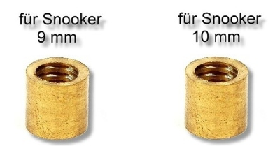 Ferrule 9 und 10 mm Snooker Messing