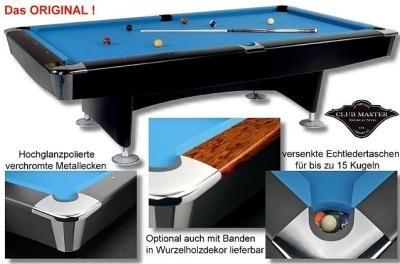 Pool Billardtisch Club Master 8 ft. Schwarz