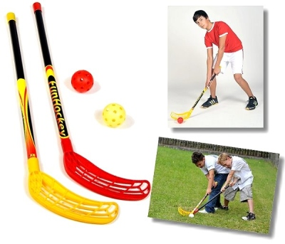 Original FunHockey (Floorball) Schläger-Set von Bandito (2 Schläger und Bälle)