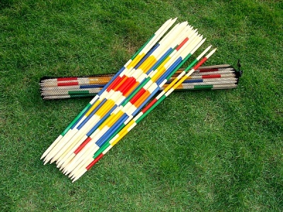 Giant Mikado, length 95 cm, with 25 bars, set in network carrying case