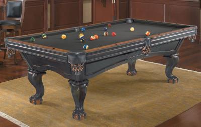 Pool Billiard Table Brunswick Glenwood 8 ft. Black - Chestnut