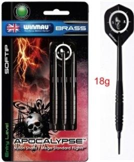 Dart Pfeil Satz Winmau Apocalypse Brass 2215 - 18 g Softdart