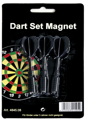 Spare Arrows for Dartsboard magnetic 3 pcs./set black