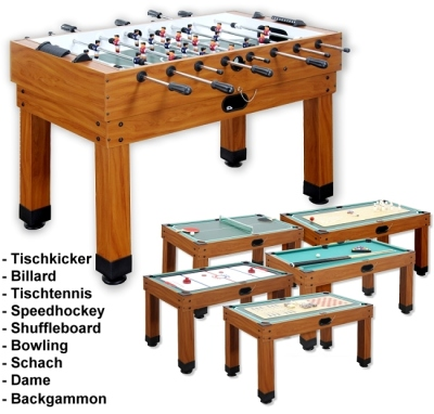 "Multi Function Table Football Machine ""MULTI GAME 9 in 1"""