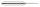 Dart Barrel, Brass, chrome plated,  Weight: 19 g, Length: 52 mm
