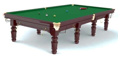 Snookertisch Robertson Tournament Mahagoni