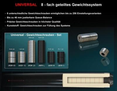 Universal Queue Gewichtsschrauben-Set