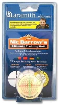 Trainings Kugel 52 mm mit Lehrbuch Snooker Ultimato Nic Barrow