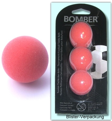 Kickerball Bomber ROBERTSON, rot, 3 Stück im Set